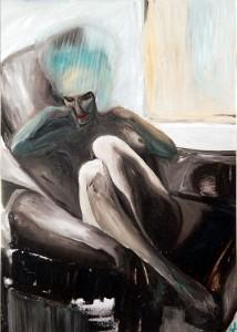 """Claudia im Sessel"", Foto Manfred Rinderspacher, WVZ 207"