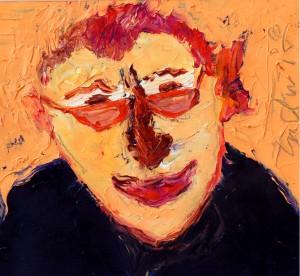 """""""Ludwig"""", aus dem Zyklus """"Franz Bellmanns Ahnengalerie"""", 2005, Bildformat 31 cm x 33 cm, Öl auf Nessel, gespachtelt"""