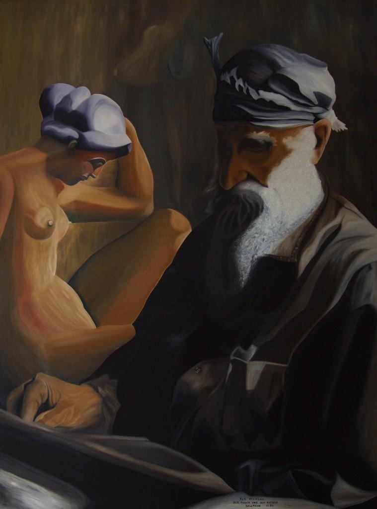 """""""Für  Maillol"""", der Maler un 1986, 140 cm x 110 cm, DSC05876"""