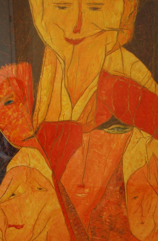 """""""Mein Schau-ins-Land"""", Ausschnitt, WVZ 2012, 100 cm x 70 cm, Öl auf Schrumpelpapier, mit freundlicher Freigabe von Barbara"""