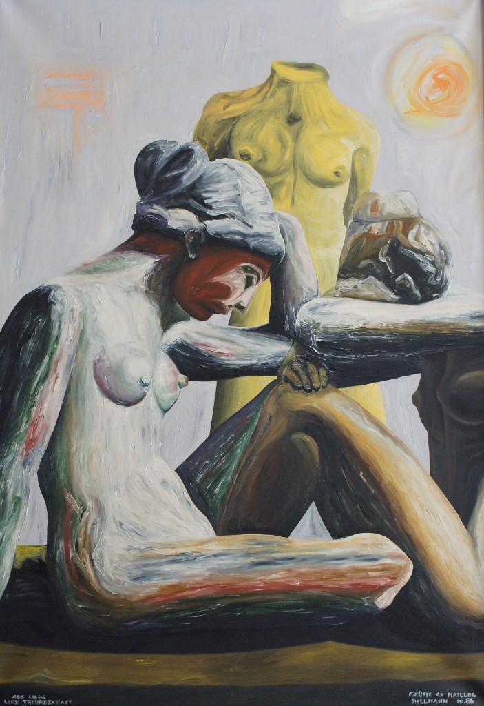 """""""Für Maillol"""", (""""Aus Liebe wird Freundschaft""""), 1986, G32 (GP 30), 130 cm x 90 cm, DSC05412"""