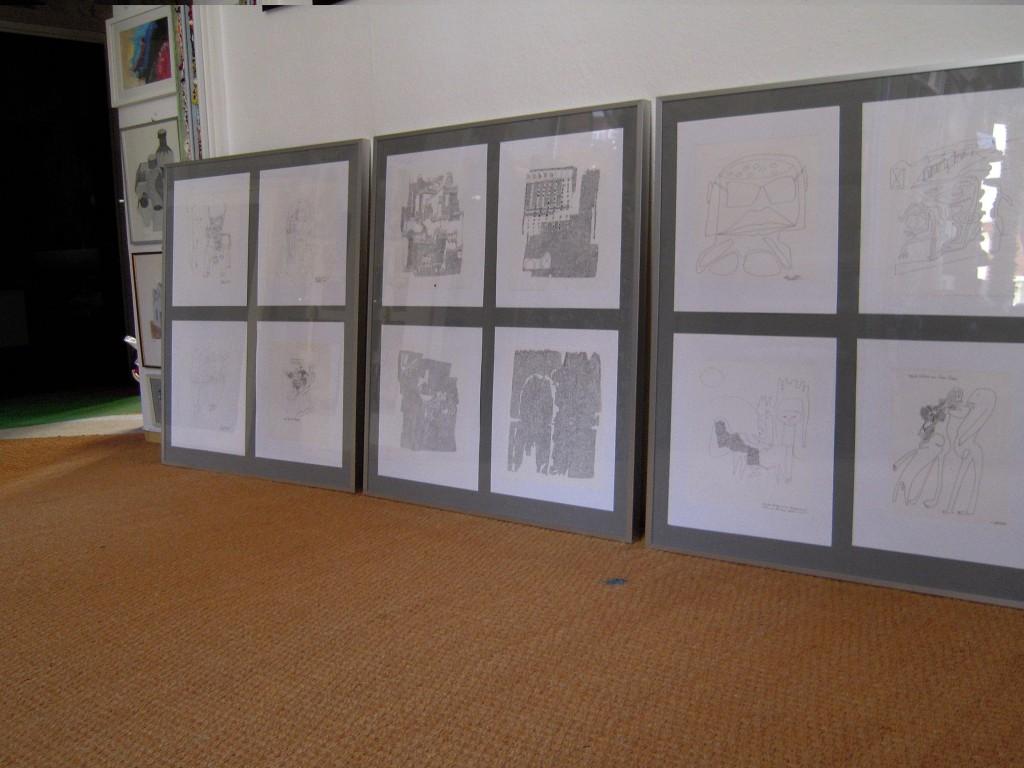 Nach Manfred nun die zweite Jubiläumspräsentation: Christine Bellmann mit Skipturaler  Malerei, DSCN3509