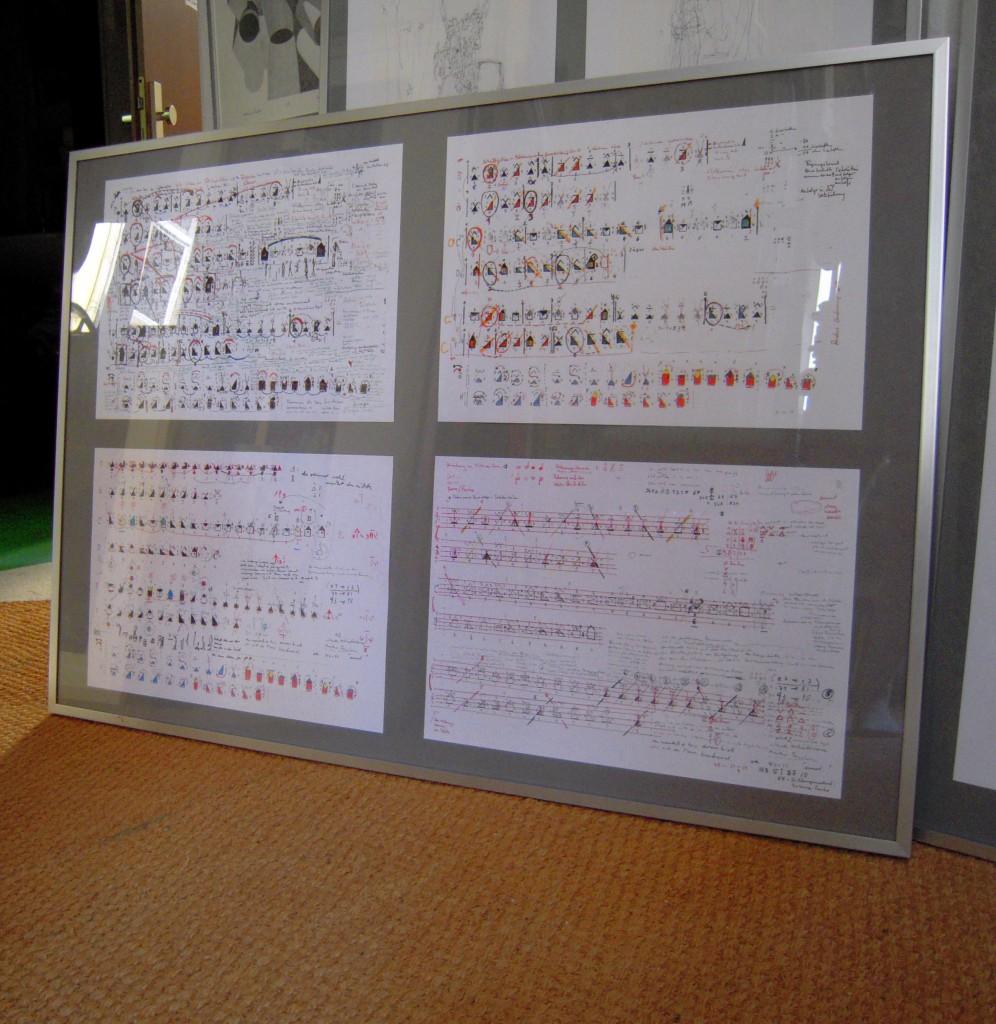 Der Aufbau der Werke meiner Schwester in Zusammenarbeit mit ihrem Mann Ludwig und Matthias, DSCN3510