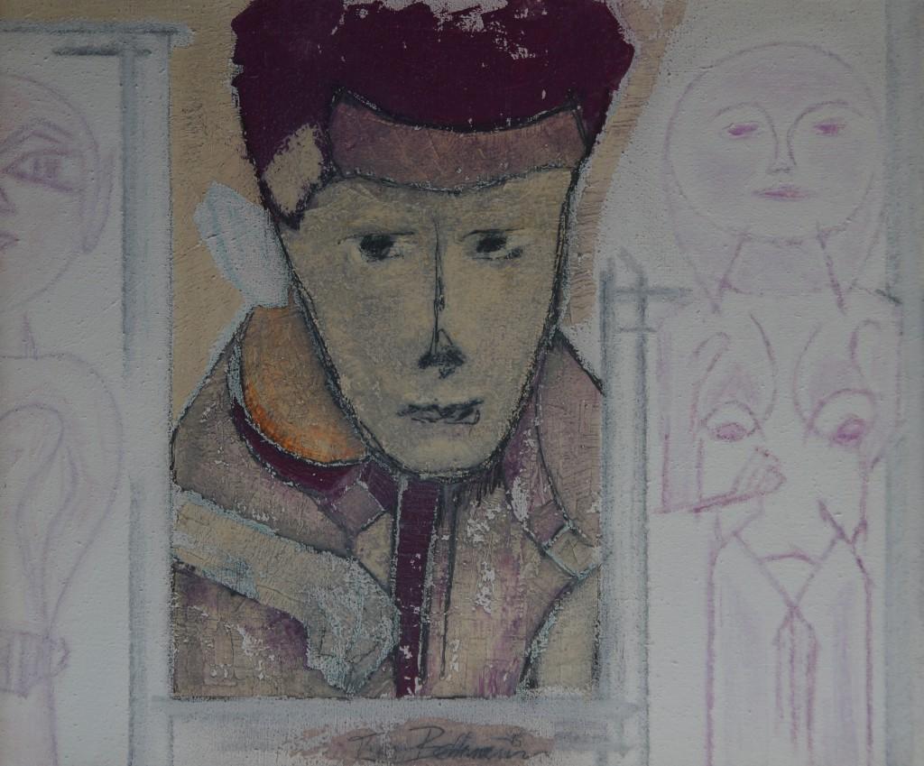 """Titel: """"Für Egon"""", 1995, Sign. M. u., DSC05474"""