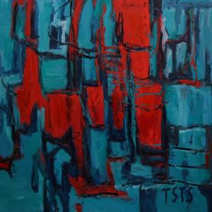 "Aus der Ausstellung bei BoConcept Mannheim: ""An der Mauer"", 2004"