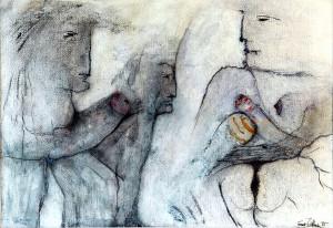 """Titelgeber der W.I.X.-Serie: """"Amor mit Bauchladen"""", 1995, Foto Manfred Rinderspacher, DSC_0090"""