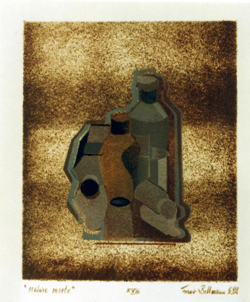 """""""nature morte"""", Öl, Papier, DINA3, 1989, Teil des """"Juli-Buches"""", Nr. XXIII, Franz Walzbilder0001"""