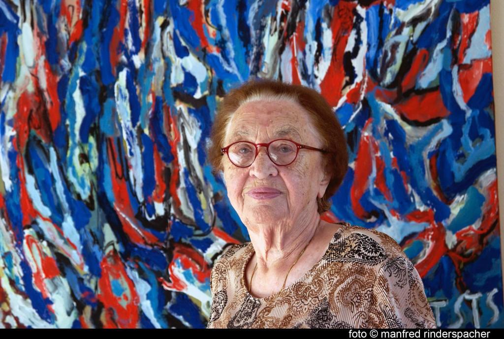 Trude Stolp-Seitz, Portrait-Aufnahme von Manfred Rinderspacher, zur Verfügung gestellt durch Silvia Köhler, Künstlernachlässe Mannheim, Stolp_Seitz01