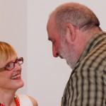 Dr. Ulrike Lorenz, Direktorin der Kunsthalle Mannheim mit dem Künstler Robert Schad, Foto Matthias Plath, DSC00571