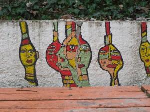 Wandgemälde im Schulhof, Künstler unbekannt, SAM_3478