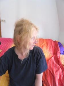 Christine im gemeinsamen Atelier mit ihrem Gatten Ludwig, Foto DieRedaktion, SAM_6328