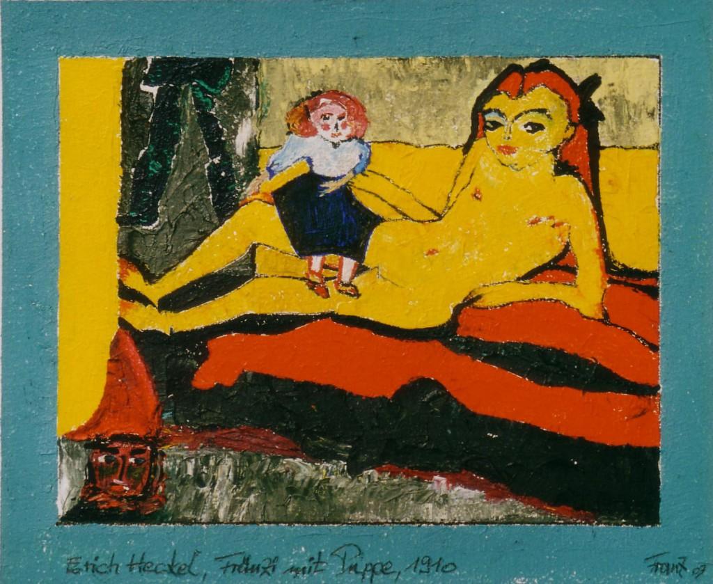 Erich Heckel - Fraenzi mit Puppe