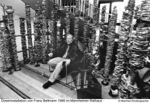 Pressetermin während der Ausstellung, Foto Manfred Rinderspacher, Bellmann1996_01