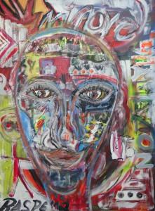 """""""o.T."""", Sign. l. u. , 2012, Acryl,100 cm x 80 cm"""