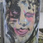 An der Alb in KA: Kunst auf Abfallbehälter