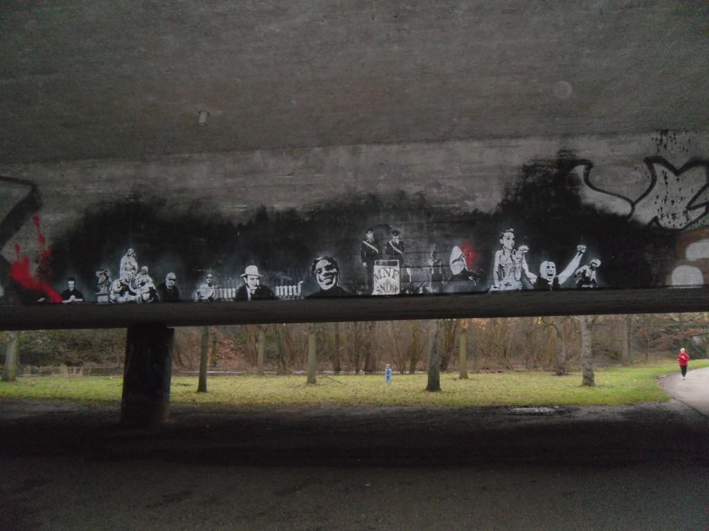 Gestaltung einer Brücke aus Stahlbeton an der Alb