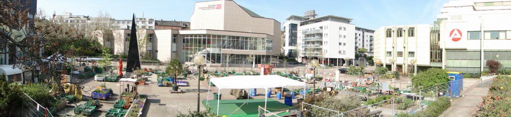 Panorama Hack Garten