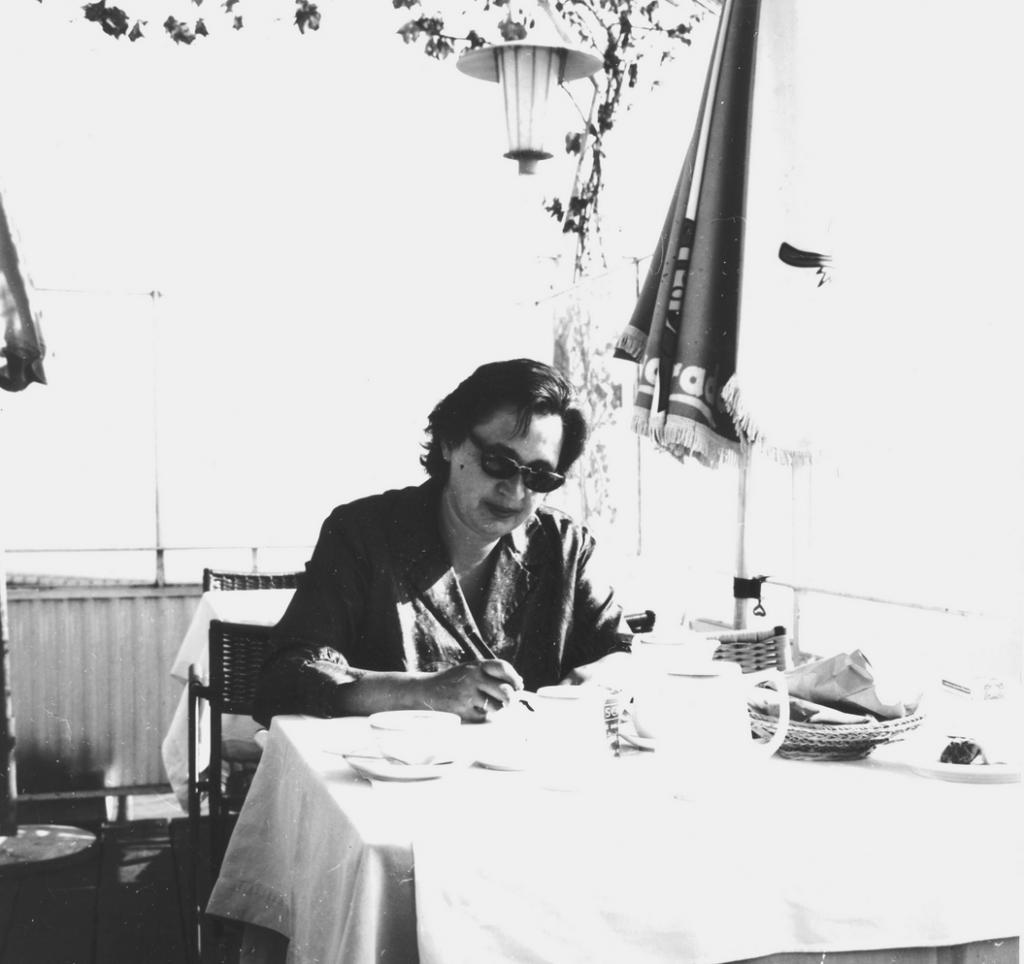 Trude Stolp-Seitz in den fünfziger Jahren bei einer Reise nach Italien