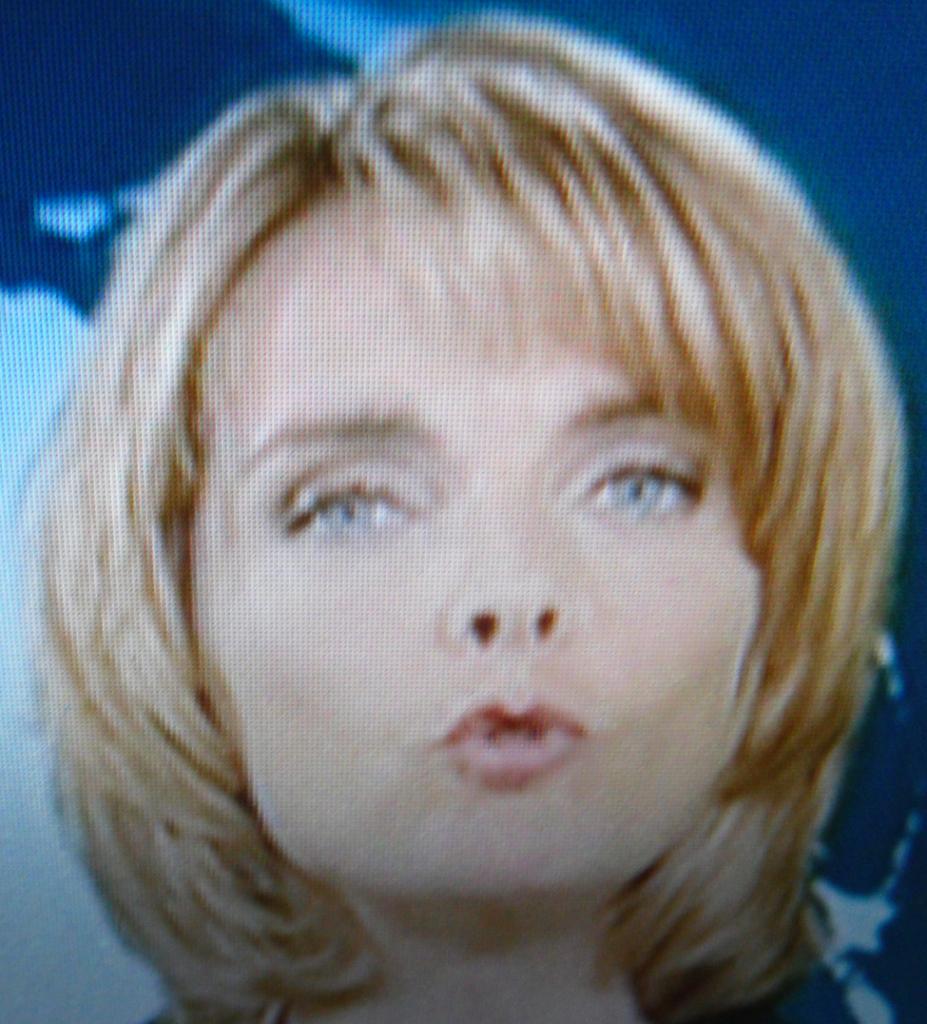ZDF-Moderatorin, Foto vom 17. September 2013 am Bildschirm aufgenommen, DieRedaktion...
