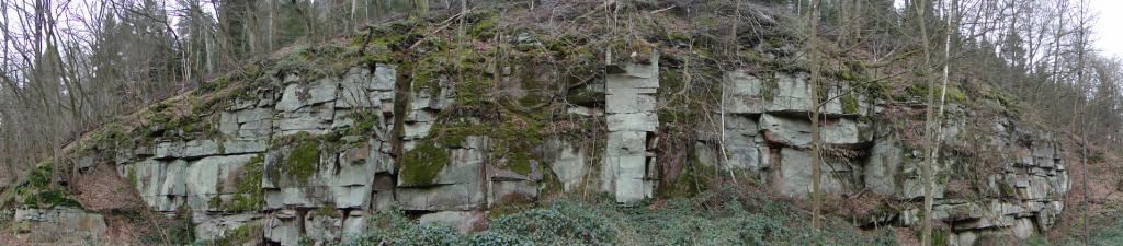 Schnöder Beton beendete  die Verarbeitung des Natursandsteins zu nahezu 100%...