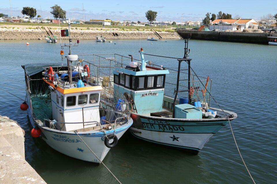 Im Hafen von Ferragudo