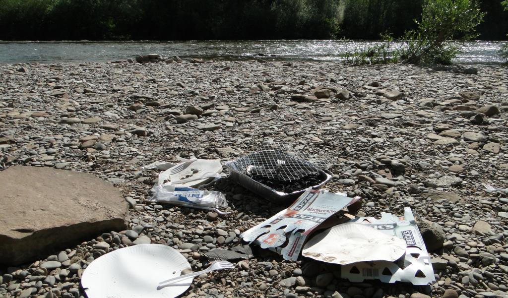 Kann man, wenn man schon in verbotenen Gebieten feiert nicht einen Sack mitbringen, in dem man seine mitgebrachten Abfälle verstaut und dann entsprechend entsorgt...