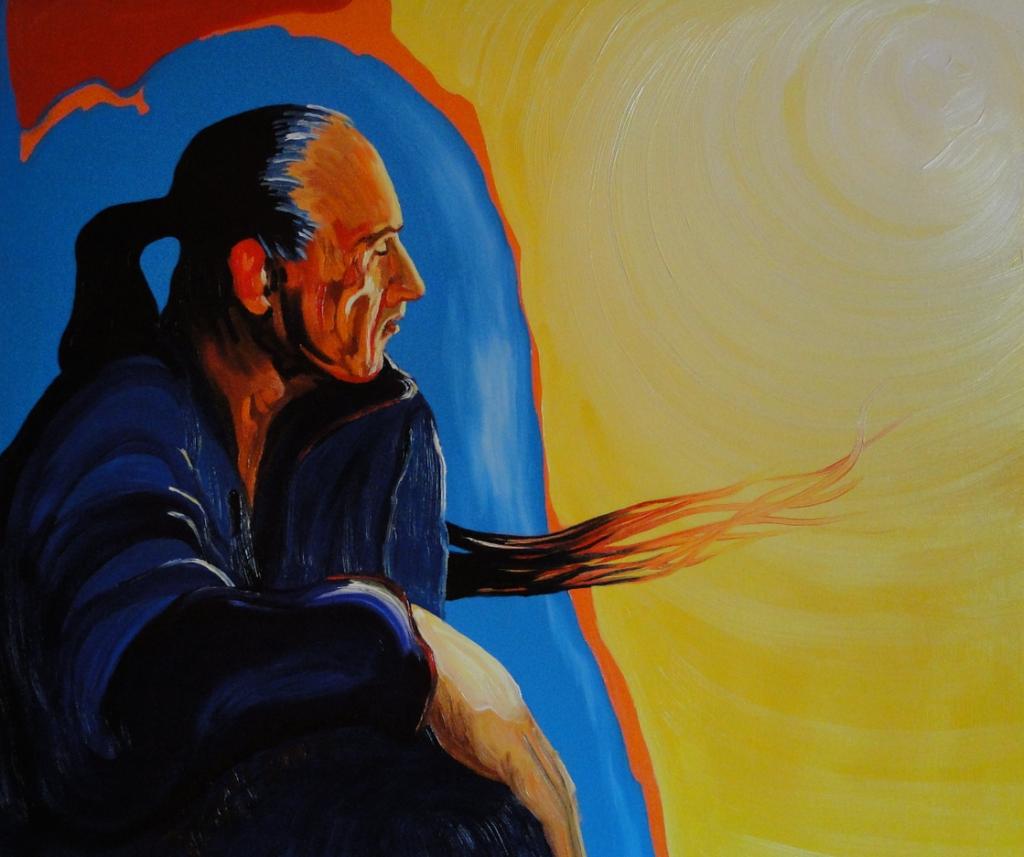 'Selbstportrait', 80x70 cm, Öl/Lw, 2003, Sign. l. u. ...