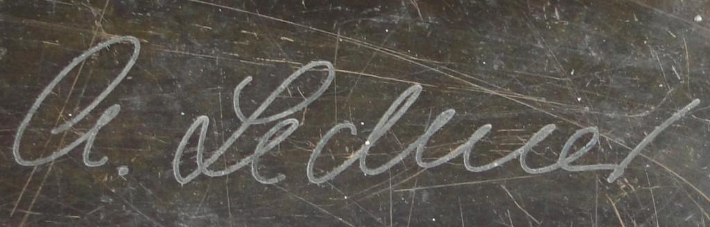 Signatur von Christel Lechner jeweils am Standortboden der Skulpturen angebracht ...