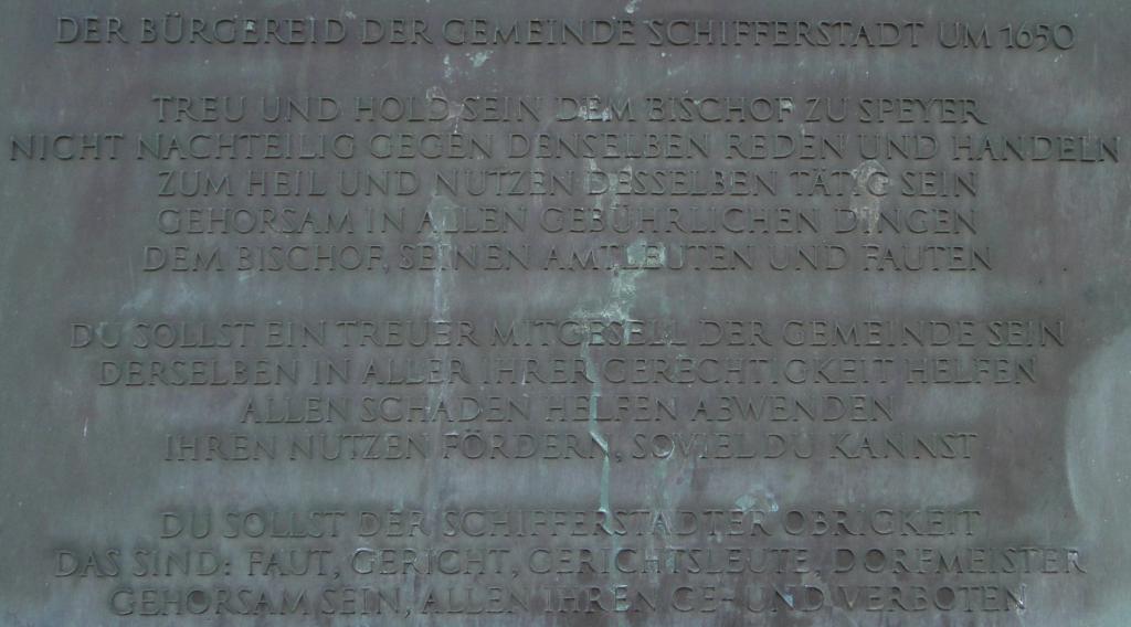 Der Bürgereid der Gemeinde Schifferstadt um 1650 ...