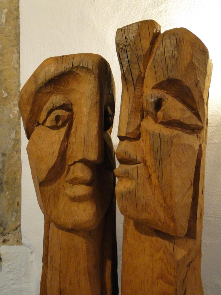 """Margot Stempel-Lebert, 1922-2009, Landau, """"Köpfe"""", Geschenk Landauer Kunststiftung ..."""
