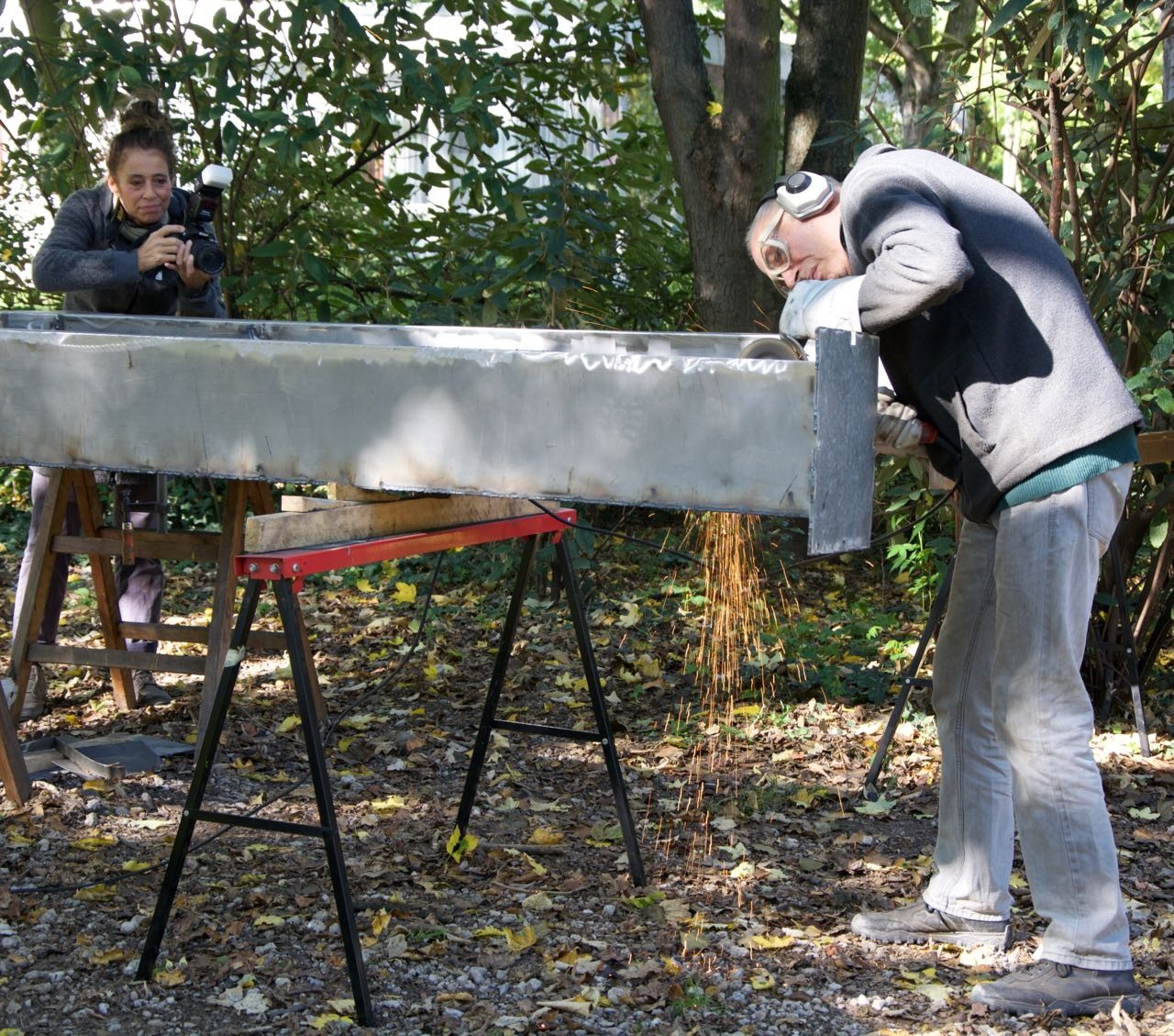 Zum Schluss: Elles Magermans begleitete das Symposium und damit die Entstehung der Bildhauerarbeiten über sechs Tage hinweg