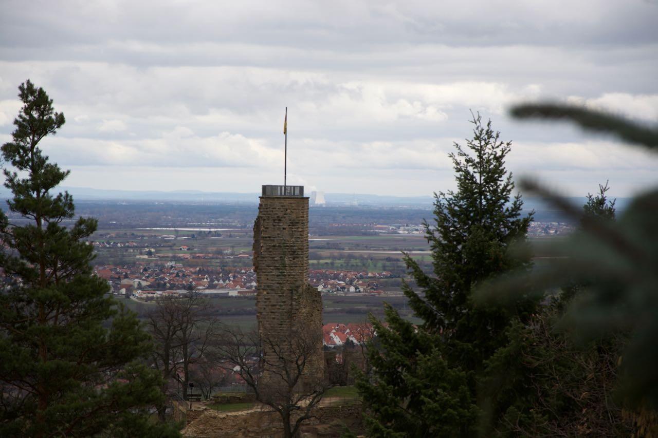 Die Wachtenburg, der Turm ist begehbar ...